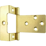 50mm Cranked Flush Hinge Brass
