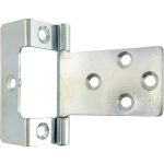 50mm Cranked Flush Hinge Bright Zinc