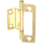 50mm Double Cranked Flush Hinge Brass