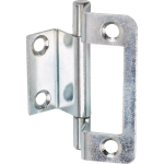 50mm Double Cranked Flush Hinge Bright Zinc
