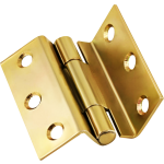 63mm 1951 Stormproof Casement Window Hinge Polished Brass