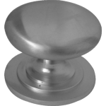 25mm Round Cupboard Knob Satin Chrome