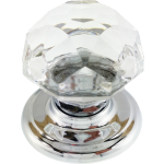 Sonata Crystal Cupboard Knob Bright Chrome Rose