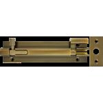 102mm x 25mm Necked Barrel Bolt Antique Brass