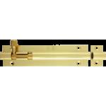 102mm x 25mm Straight Barrel Bolt Polished Brass