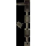 305mm Drop Down Garage Door Bolt Black Enamel