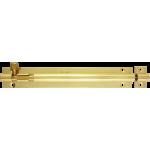 152mm x 25mm Straight Barrel Bolt Polished Brass