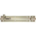 152mm x 32mm Architectural Straight Barrel Bolt Satin Nickel