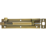 152mm x 38mm Architectural Necked Barrel Bolt Antique Brass