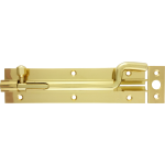 152mm x 38mm Shaped Necked Barrel Bolt Polished Brass