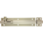 152mm x 38mm Architectural Straight Barrel Bolt Satin Nickel