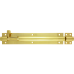203mm x 38mm Architectural Straight Barrel Bolt Polished Brass