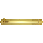 254mm x 38mm Architectural Straight Barrel Bolt Polished Brass