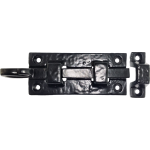 100mm Rustic Antique Black Straight Door Bolt