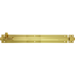 305mm x 38mm Architectural Straight Barrel Bolt Polished Brass