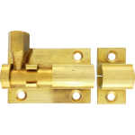 38mm  x 25mm Straight Barrel Bolt Polished Brass