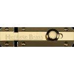 4 Inch Flat Slide Bolt Polished Brass