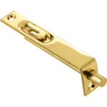 102mm x 16mm Flush Bolt Polished Brass