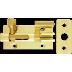 51mm x 25mm Necked Barrel Bolt Polished Brass