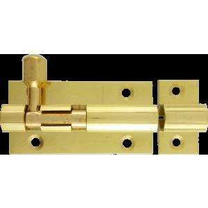 51mm  x  25mm Straight Barrel Bolt Polished Brass