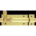 63mm x 25mm Straight Barrel Bolt Polished Brass