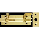 76mm x 25mm Cranked Barrel Bolt Polished Brass