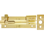 76mm x 25mm Necked Barrel Bolt Polished Brass