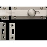 102mm Flat Slide Action Door Bolt Satin Nickel