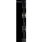 457mm Drop Down Garage Door Bolt Black Enamel