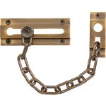 Rectangular Door Chain Antique Brass