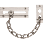 Rectangular Door Chain Satin Nickel