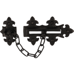 Fleur De Lys Door Chain Black Antique