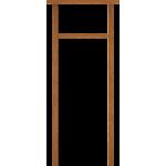 Universal Hardwood Fanlight Door Frame