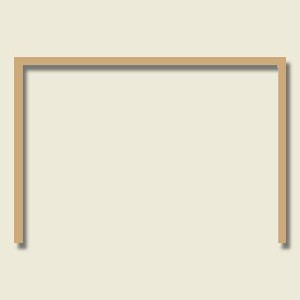 4 X 3 Unassembled Softwood Garage Door Frame