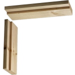 106mm Softwood Door Casing Untrenched Head 838