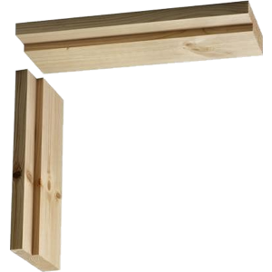 145mm Softwood Door Casing Untrenched Head 838