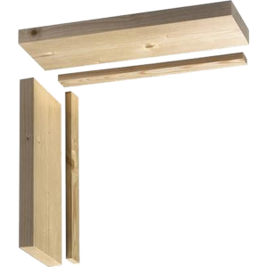 145mm Softwood Double Door Lining Untrenched Head 926