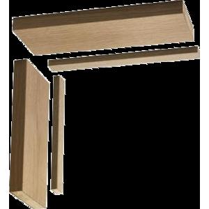 133mm Oak Double Door Lining Kit 1524 on