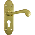 Adam Euro Profile Handles Polished Brass