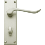 Chrissi Bathroom Lock Door Handles Satin Nickel
