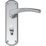 Garda Bathroom Door Handles Polished Chrome
