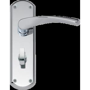 Garda Bathroom Door Handles Polished Chrome