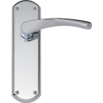 Garda Latch Door Handles Polished Chrome