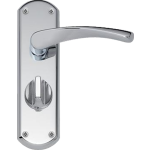 Garda Privacy Door Handles Polished Chrome