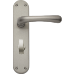 Idro Bathroom Lock Door Handles Satin Nickel