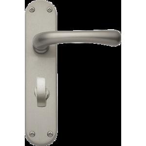 Idro Bathroom Lock Door Handles Satin Nickel