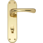 Idro Bathroom Lock Door Handles Polished Brass