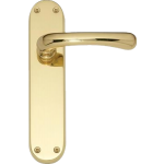 Idro Latch Door Handles Polished Brass