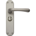 Idro Privacy Door Handles Satin Nickel