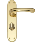 Idro Privacy Door Handles Polished Brass